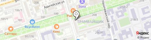 Аптека №3 на карте Ростова-на-Дону