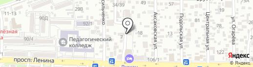 Парикмахерская эконом-класса на карте Ростова-на-Дону