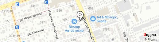 Светофор 61 на карте Ростова-на-Дону