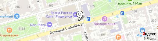 Шолохов-Центр на карте Ростова-на-Дону