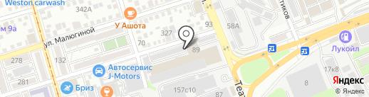 Ассоциация Президентской программы Ростовской области на карте Ростова-на-Дону