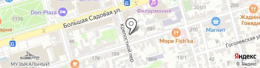 Бобрёнок на карте Ростова-на-Дону
