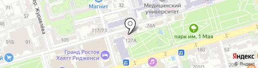 Цветочный на карте Ростова-на-Дону