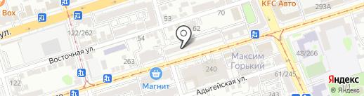 Тарань на карте Ростова-на-Дону