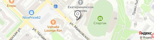 Магазин ковров на карте Рязани
