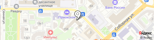 Рязанская областная противопожарно-спасательная служба на карте Рязани