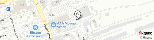 РОСТАВТОГАЗ на карте Ростова-на-Дону