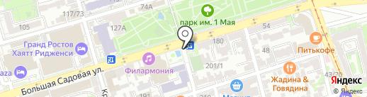 Киоск по продаже печатной продукции на карте Ростова-на-Дону