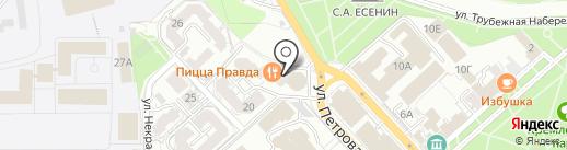 ЯR на карте Рязани