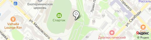 Рязань-ВДВ, женский футбольный клуб на карте Рязани