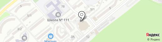 Космик на карте Ростова-на-Дону