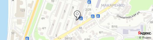 АПРЕЛЬ на карте Сочи