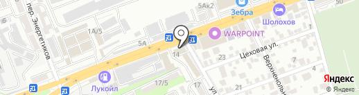 Банкомат, Газпромбанк на карте Ростова-на-Дону
