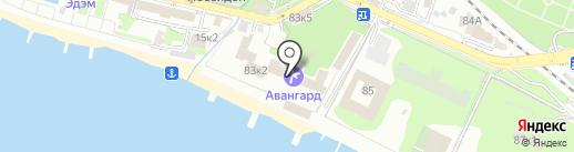 Авангард на карте Сочи