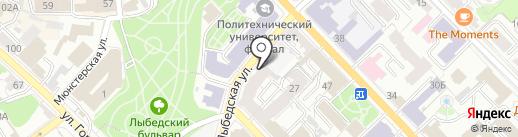 Тур Бизнес Проект на карте Рязани