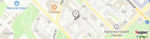 Макс на карте Рязани