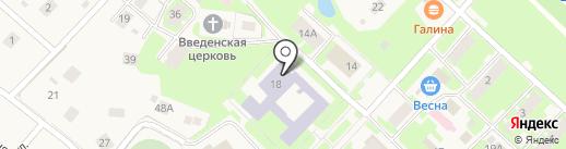 Майская средняя школа на карте Майского