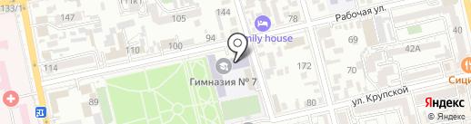 Гимназия №7 на карте Батайска