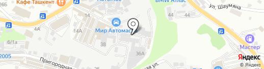 Родничок на карте Сочи