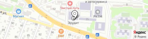 Эрудит, ЧОУ на карте Ростова-на-Дону