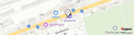 1МарКа на карте Ростова-на-Дону