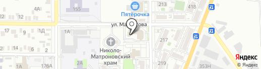 Фонд социального страхования РФ на карте Батайска