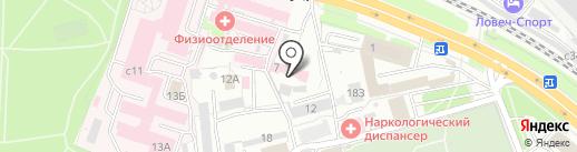 Рязанская областная станция переливания крови на карте Рязани
