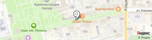 Центральная библиотека им. М. Горького на карте Батайска