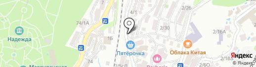 Фортуна на карте Сочи