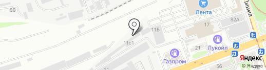 Форвард на карте Ростова-на-Дону