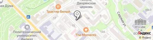 Рязанский государственный университет им. С.А. Есенина на карте Рязани