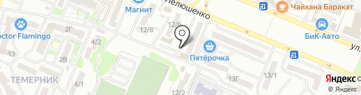 Экспромт на карте Ростова-на-Дону