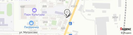 Автомагазин на ул. Энгельса на карте Батайска