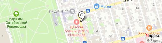 Кафе быстрого питания на карте Ростова-на-Дону