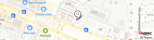 Янтарь 1 на карте Ростова-на-Дону