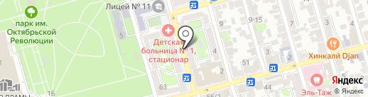 Светский на карте Ростова-на-Дону
