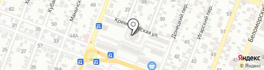 Сармат Тауэр на карте Ростова-на-Дону