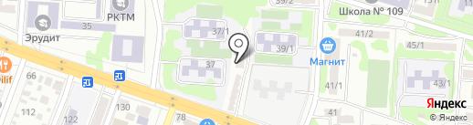 Тихий Дворик на карте Ростова-на-Дону