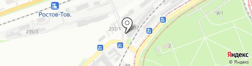Управление на транспорте МВД России по Северо-Кавказскому федеральному округу на карте Ростова-на-Дону