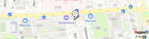 Суши Дона на карте Ростова-на-Дону