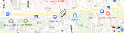 Солнечный круг на карте Ростова-на-Дону