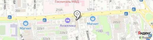 Лабиринт на карте Ростова-на-Дону