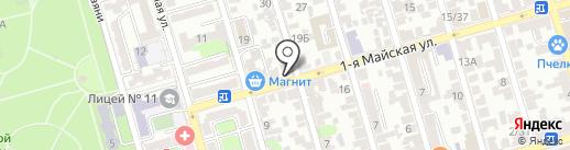 Колорит на карте Ростова-на-Дону