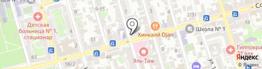 Дали на карте Ростова-на-Дону