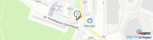 Солодок на карте Ростова-на-Дону