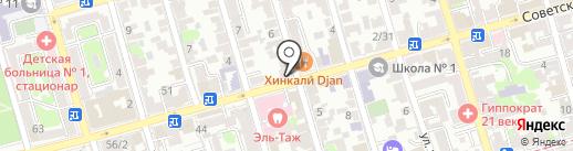 Сераджем на карте Ростова-на-Дону