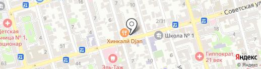 Эверест дверей на карте Ростова-на-Дону