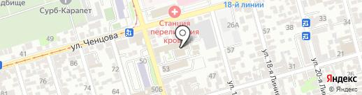 РостВалк на карте Ростова-на-Дону