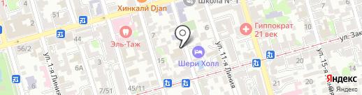 Вокруг света на карте Ростова-на-Дону