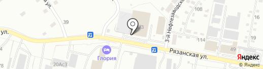 Интерснаб на карте Рязани